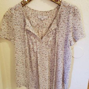 Ann Taylor Loft Flowered Top